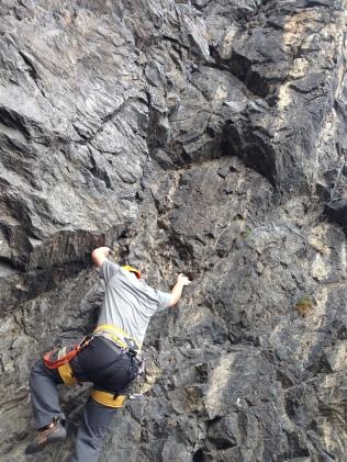 climbing at Divoká Šárka